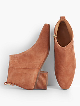 Booties look sporty and a little masculine