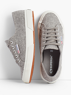 Sneakers look athletic and casual