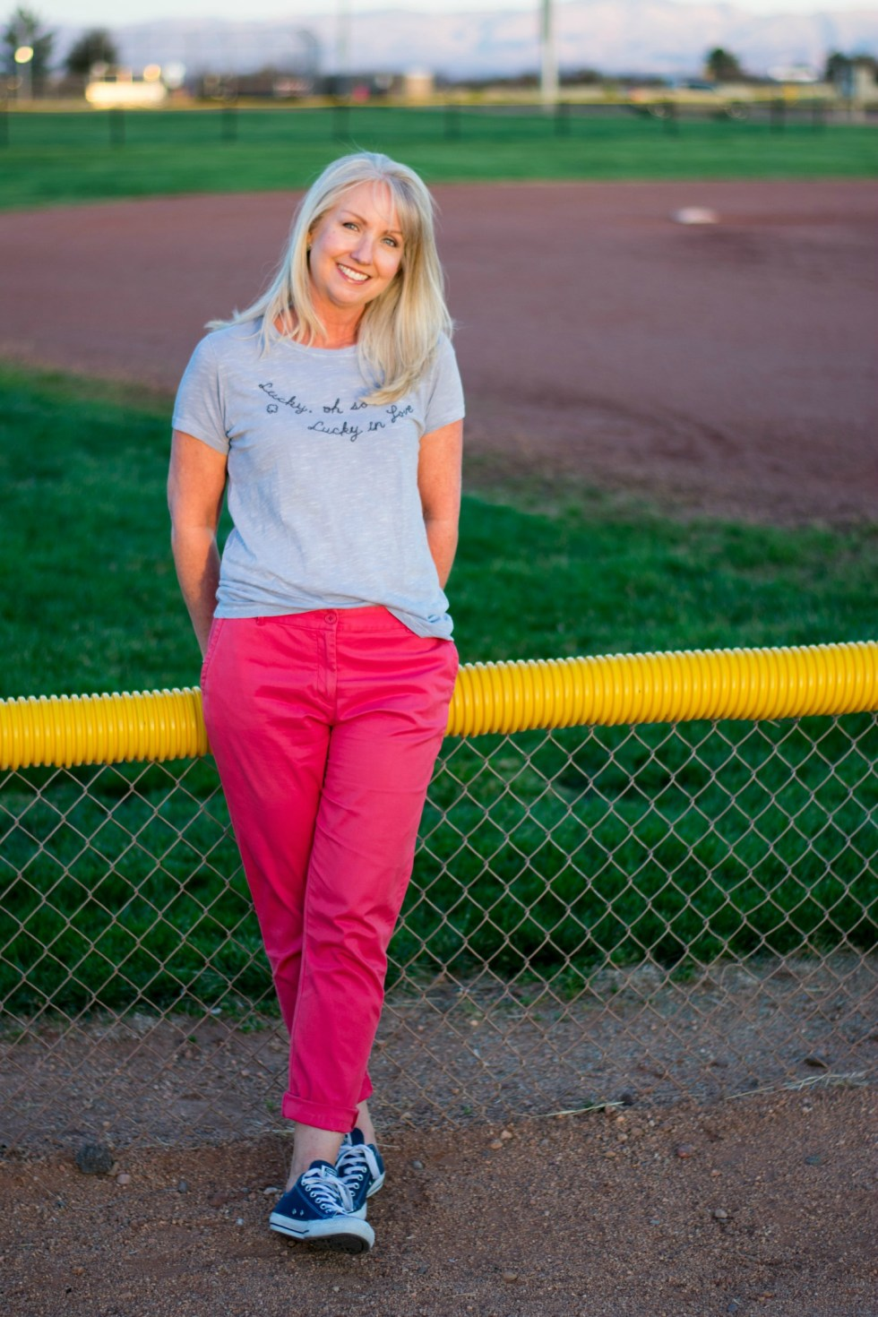 Talbots Chinos w Lucky in Love T