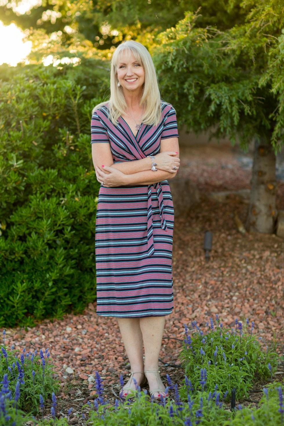 faux wrap dress 3