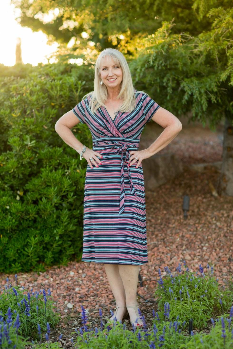faux wrap dress 5