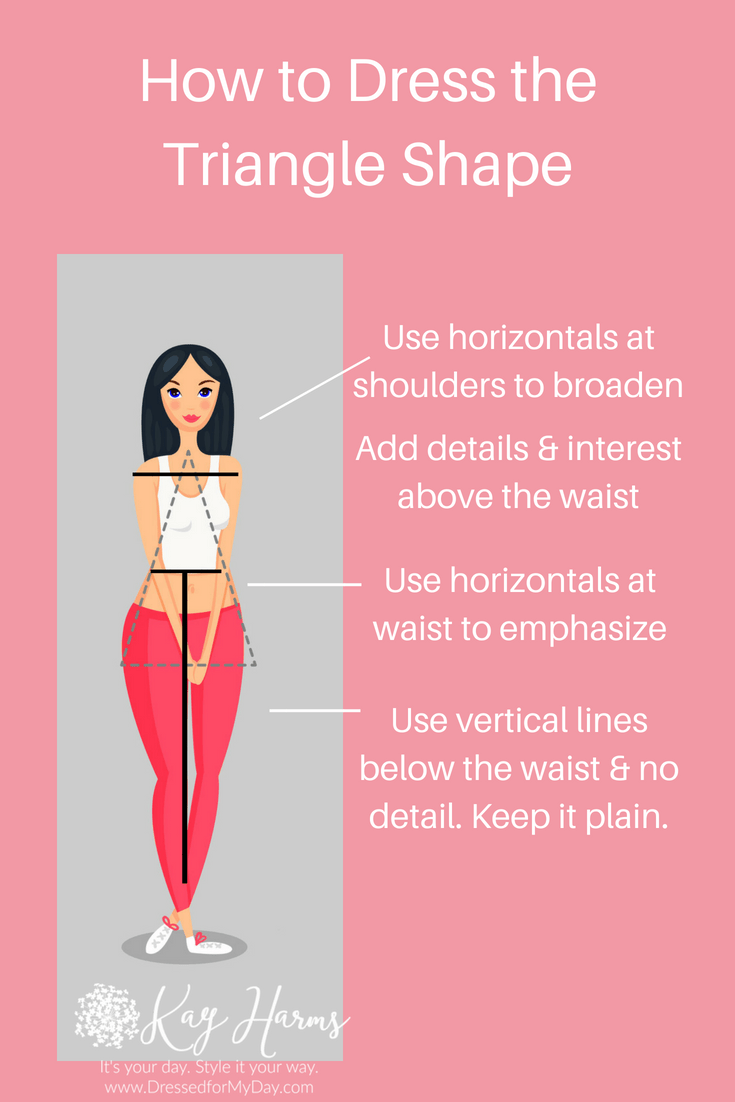 How to Dress Triangle Shape