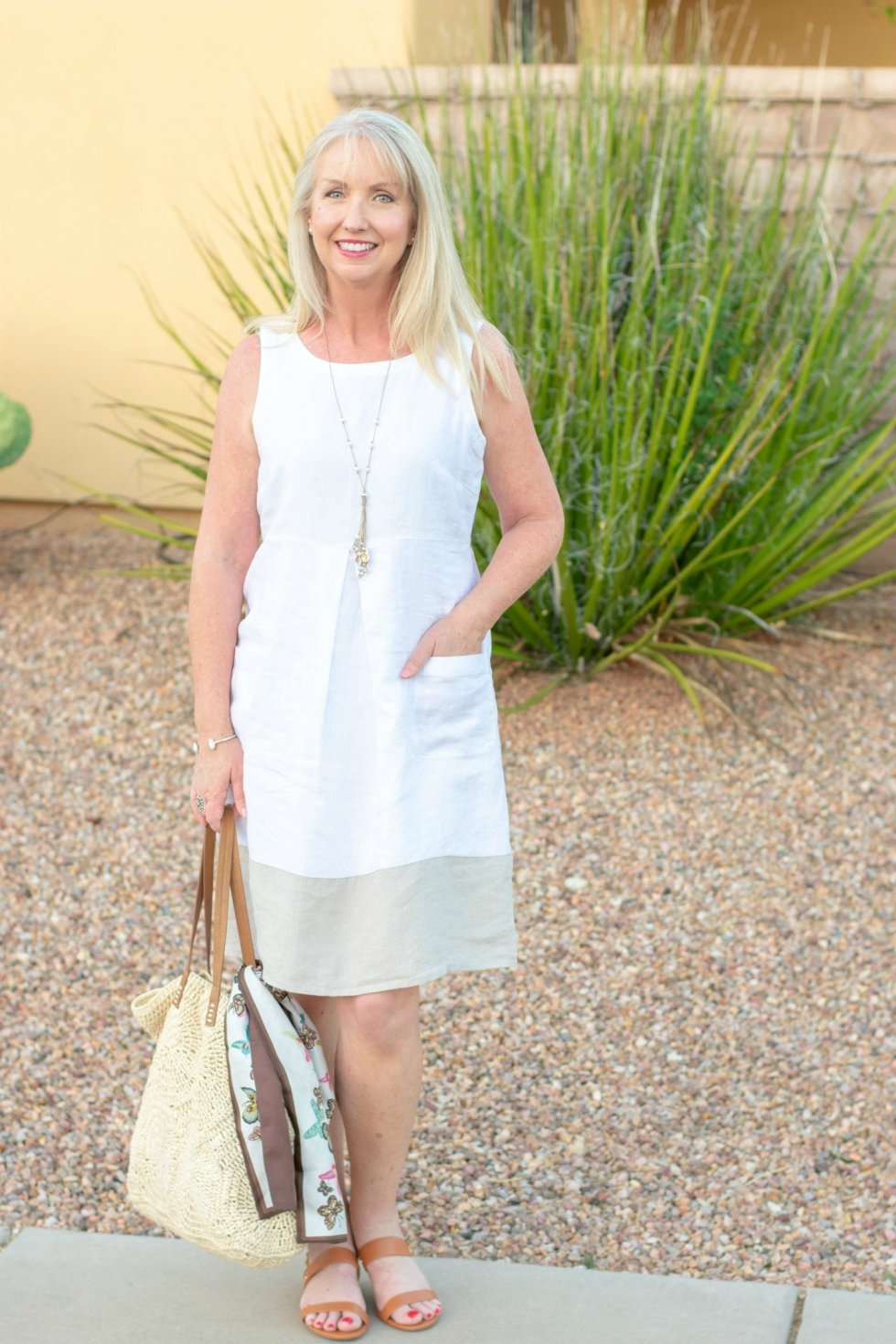 A Linen Summer Dress is a cool and fashionable option for women over 40