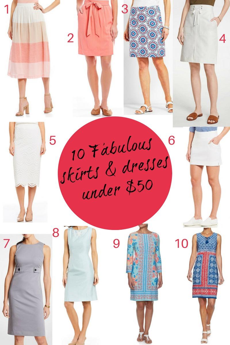 50 Fabulous Findsunder $50 - 10 Fabulous Skirts & Dresses under $50