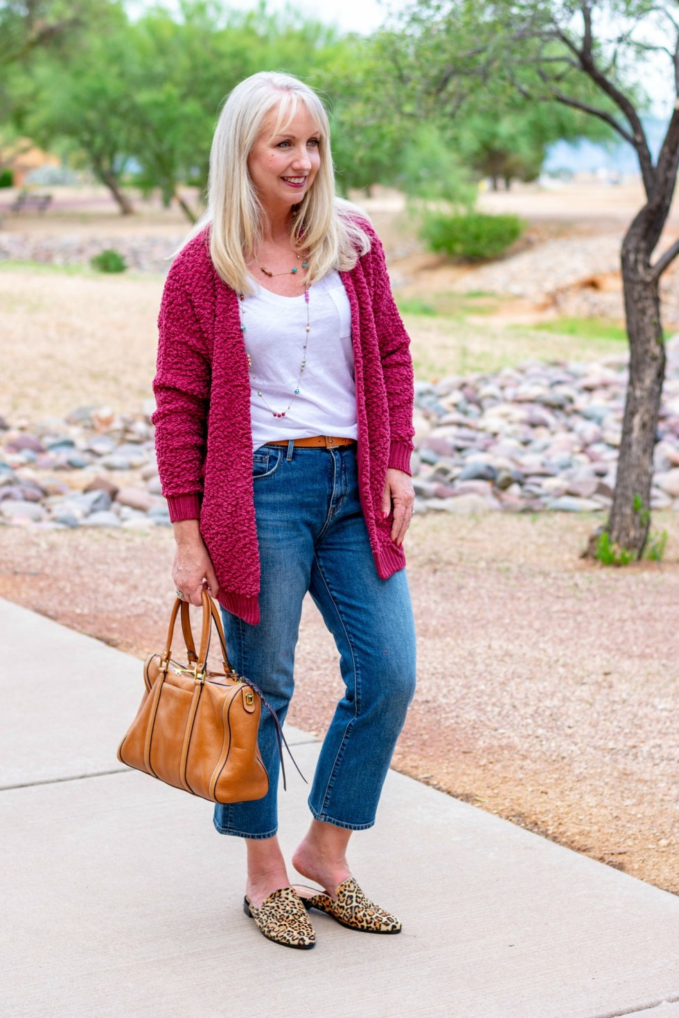 Fall Cardigan and Jeans