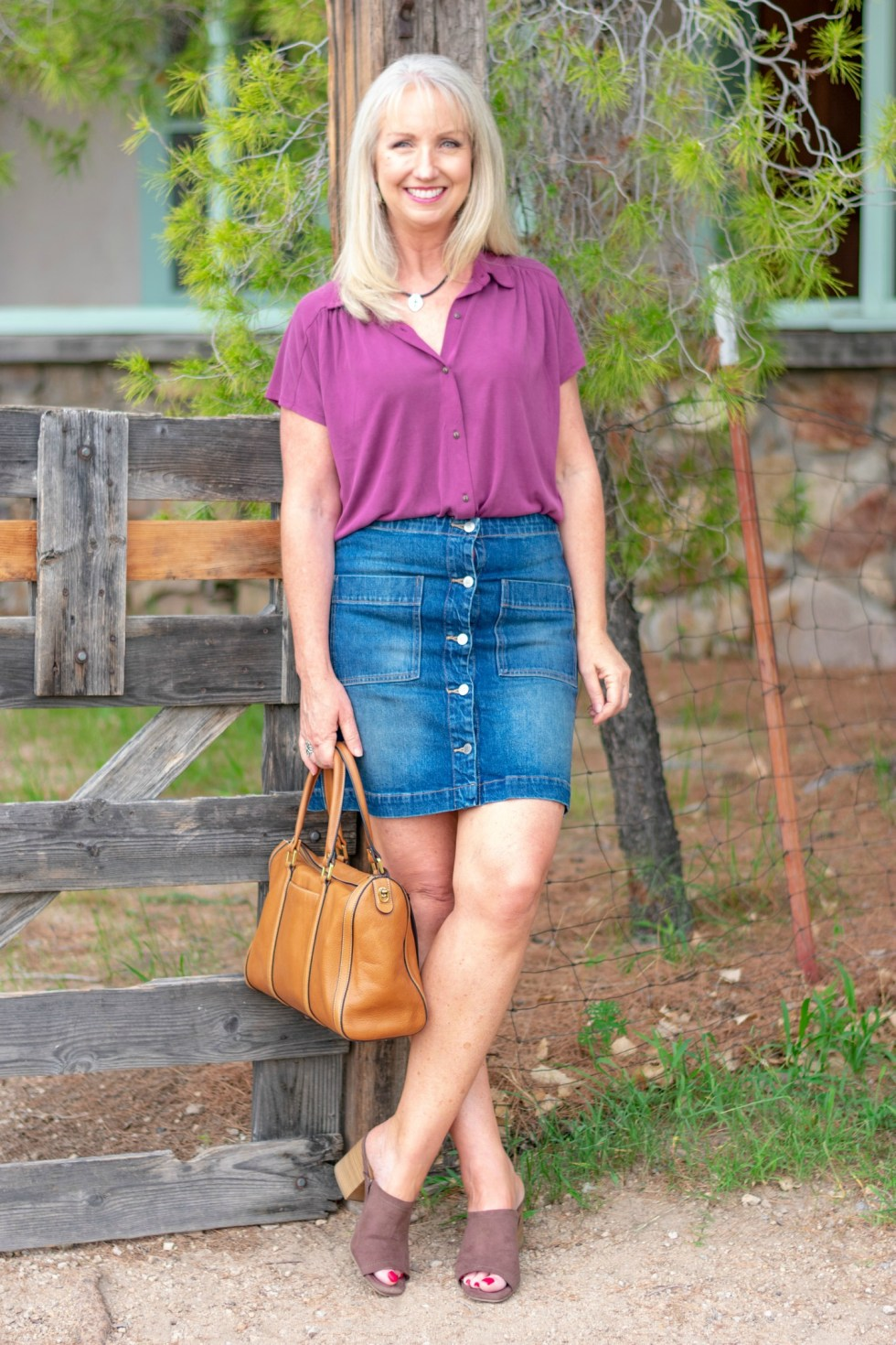 How to Style a Denim Skirt Kay