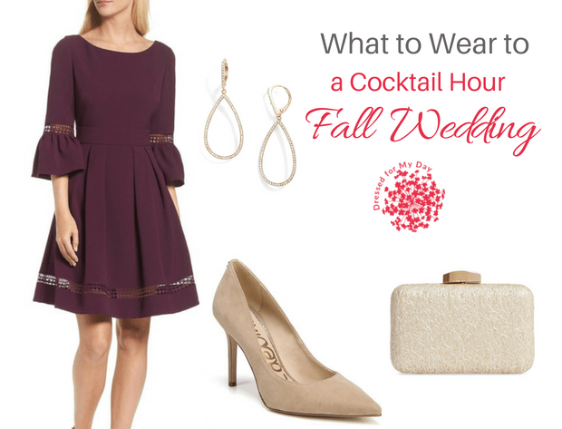 What to Wear to a Cocktail Hour Fall Wedding