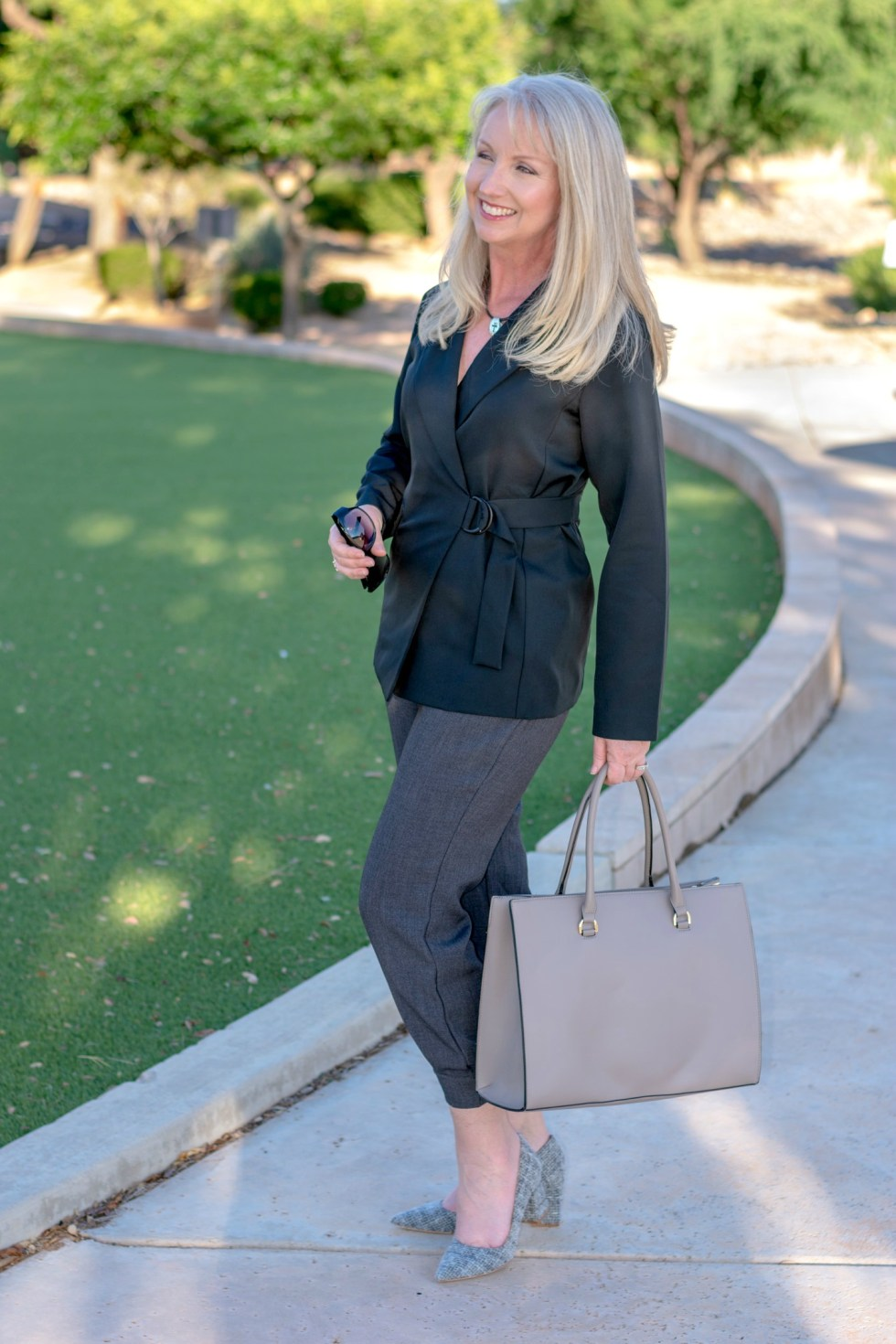 All Business with Ankle Length Jogger Pants