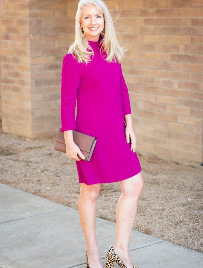 Crepe A-Line Dress