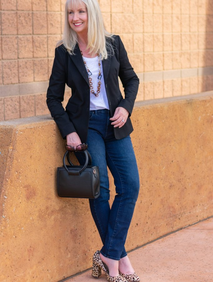 How to Style a Basic Black Blazer and T-Shirt