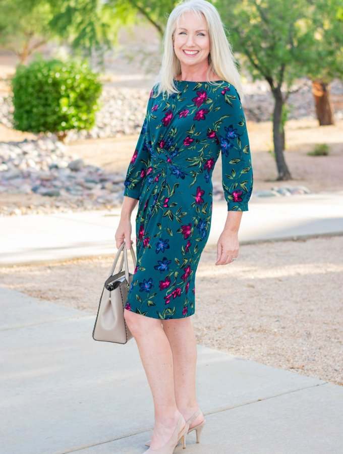 Fall Floral Dress for Any Occasion