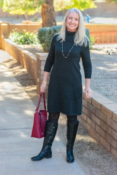 Donegal sweater dress