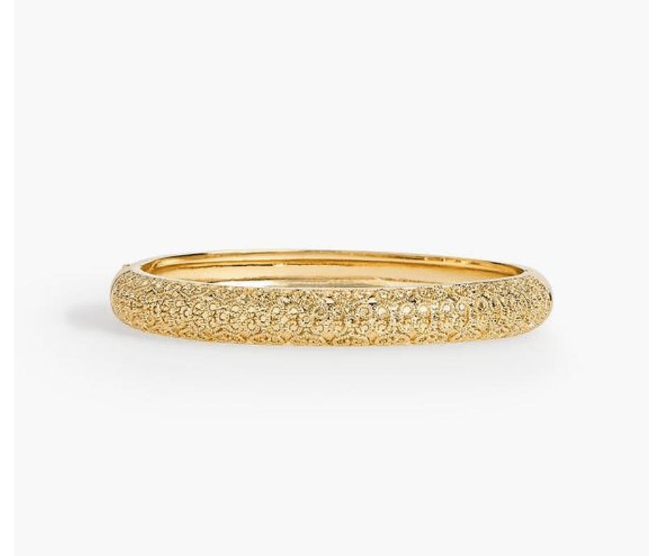 My November 2018 Favorites Gold shimmer Bangle