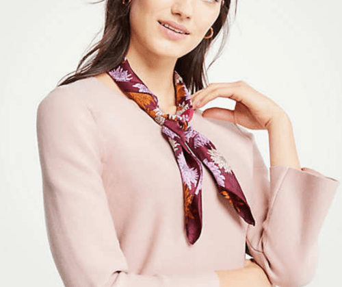 My November 2018 Favorites Silk Floral Scarf