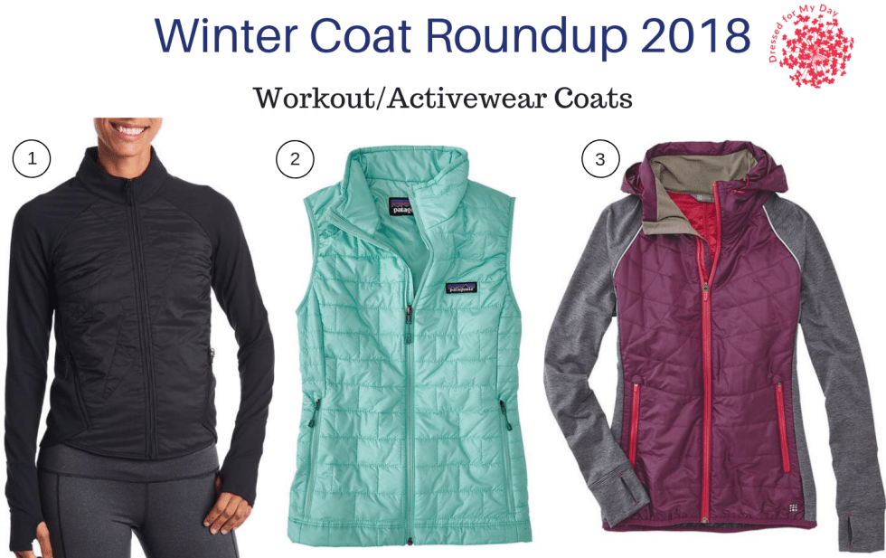 Winter Coat Roundup 2018 workout activewear