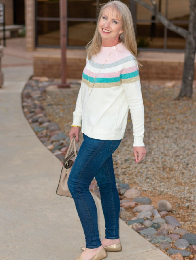 Sweater and Jeans with a Little Sparkle