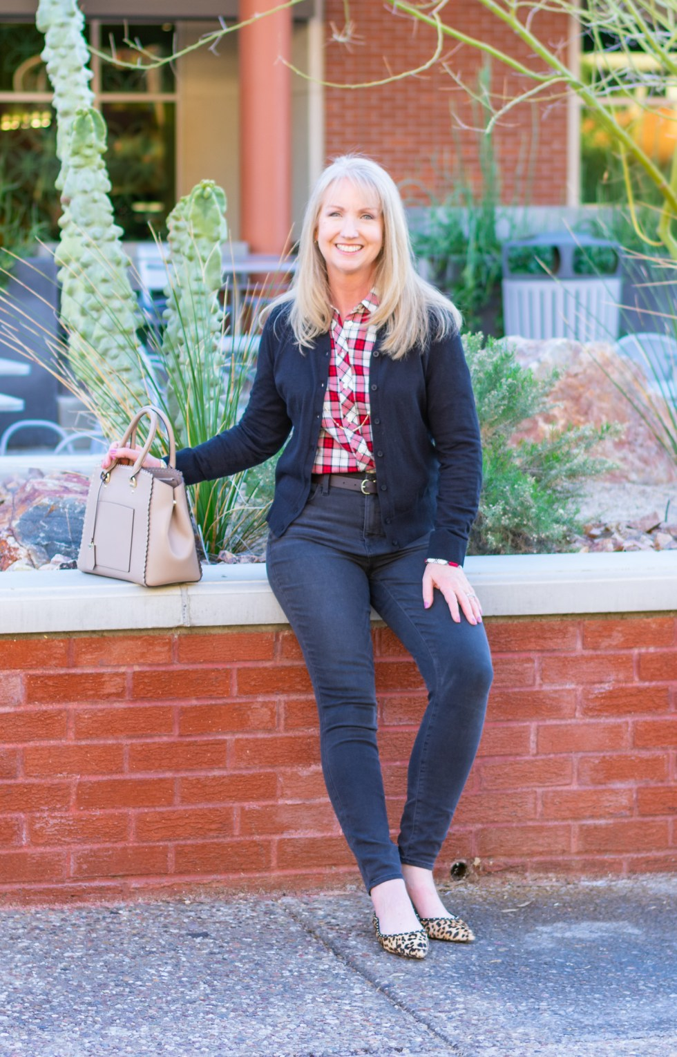 How to Wear Plaid + Leopard Print Together
