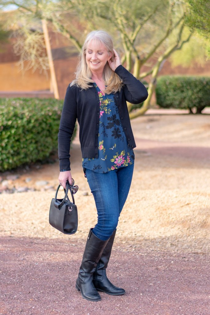 Black and Blue Casual Winter Style