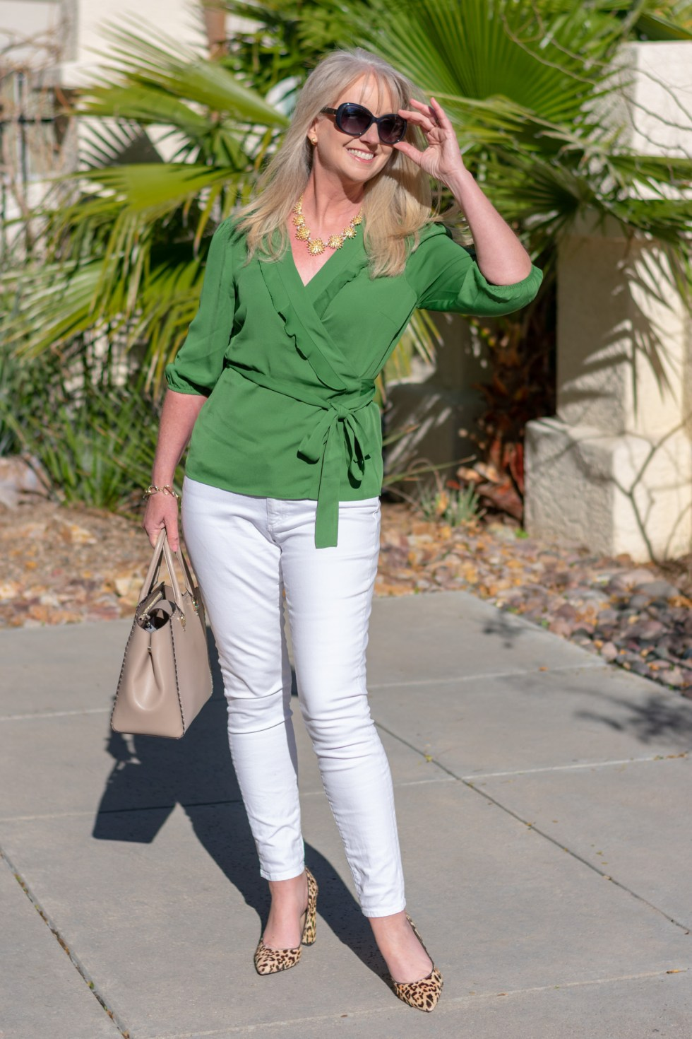 Green, Navy and White Spring Trio
