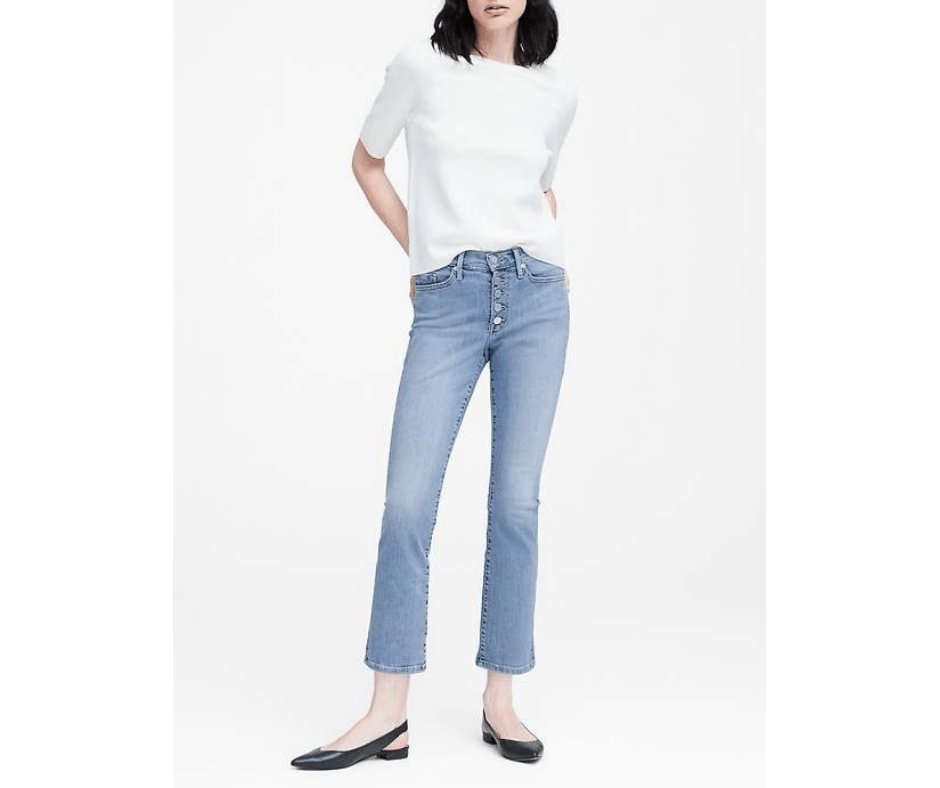 March Favorites button fly jeans