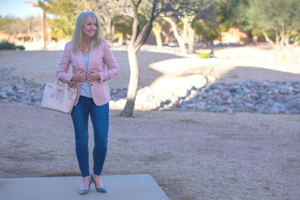 4 Ways to Style a Pink Linen Blazer