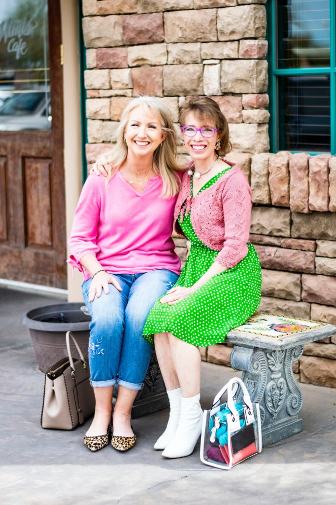 Kay Harms of Dressed for My Day and Jodie Filogomo of Jodie's Touch of Style