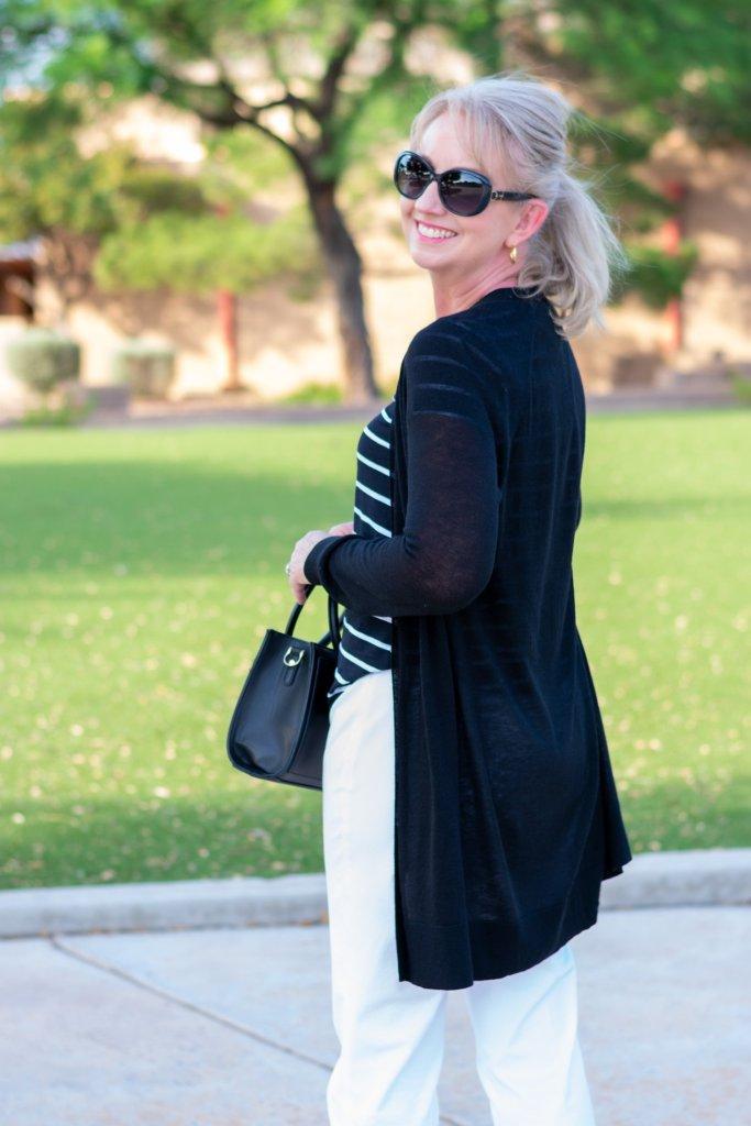 Black cardigan for summer office