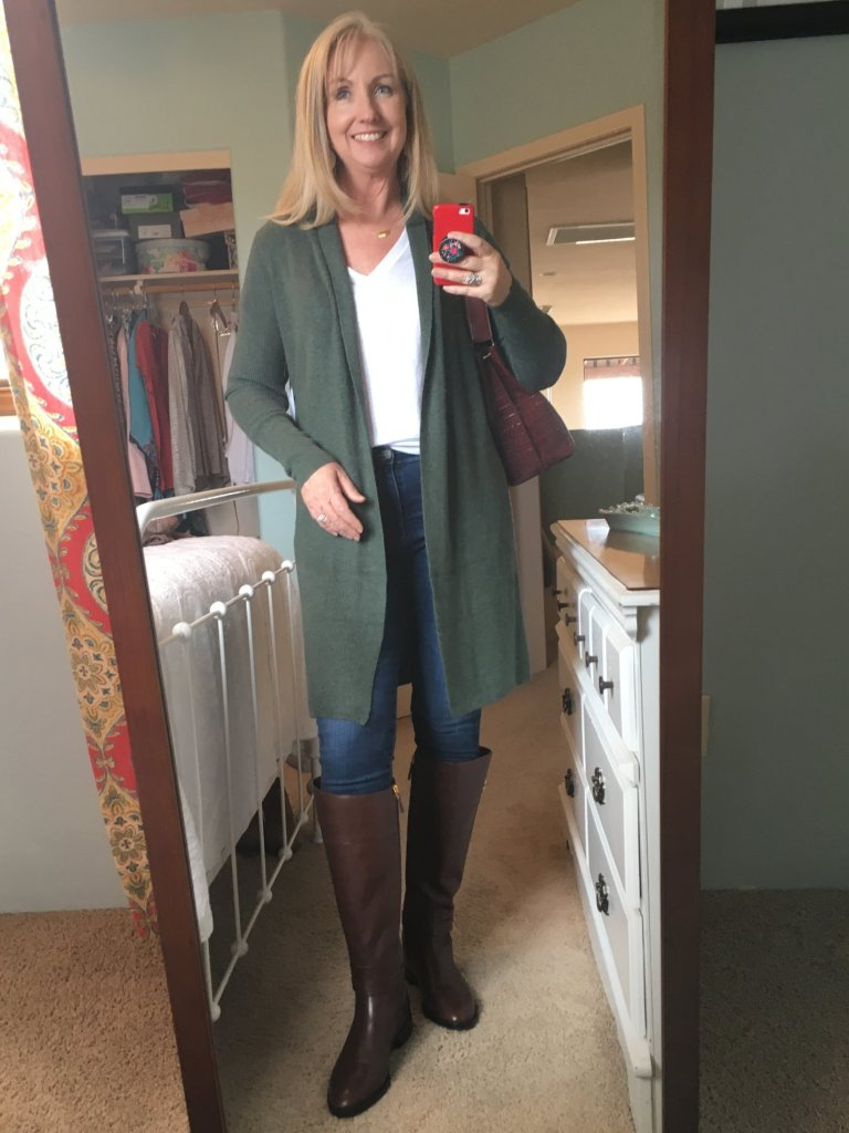 Long Green Cardigan