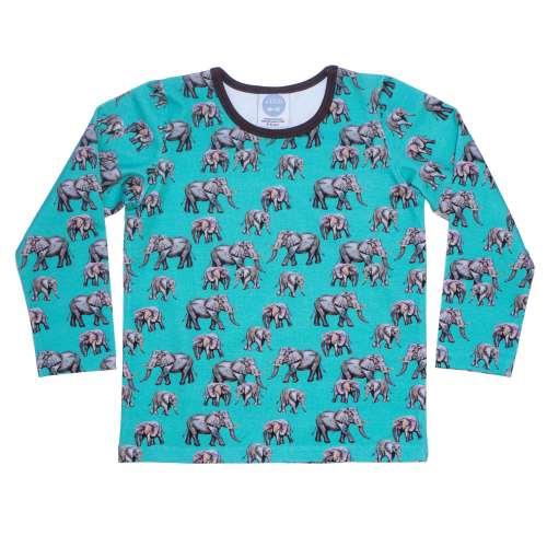 Aqua Elephant Top