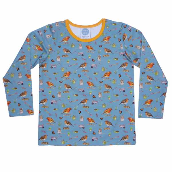 Blue Robin Top