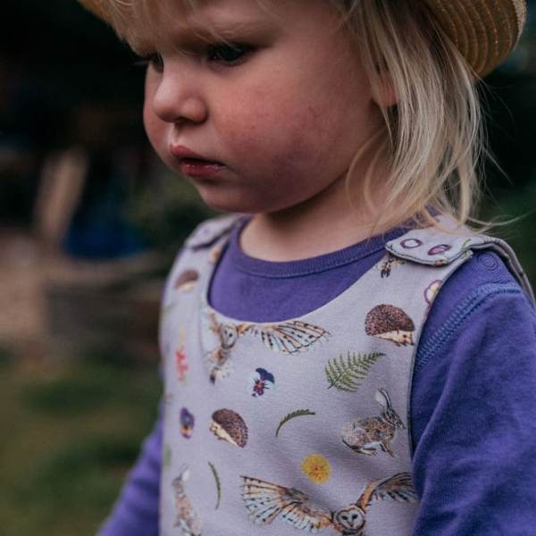 Lilac Countryside Dungarees