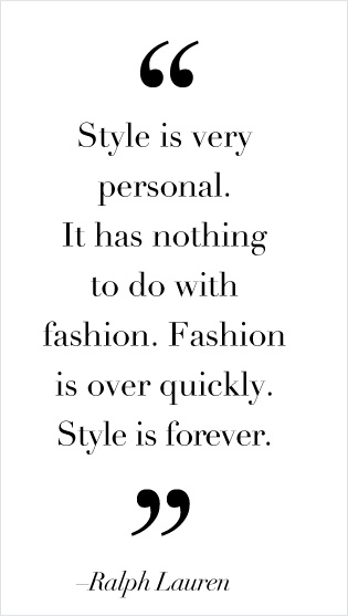 Style is personal