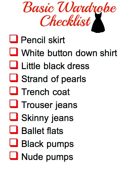 Basic Wardrobe Checklist