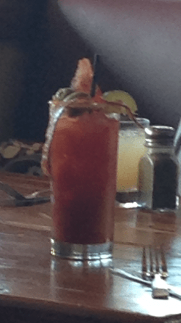 bloody mary with bacon