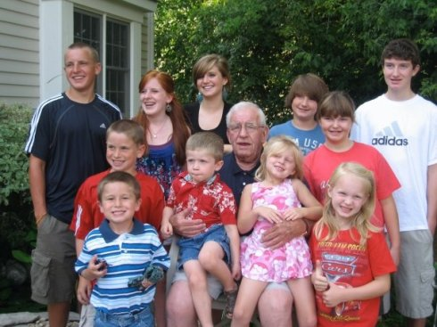 Pop and the grandkids