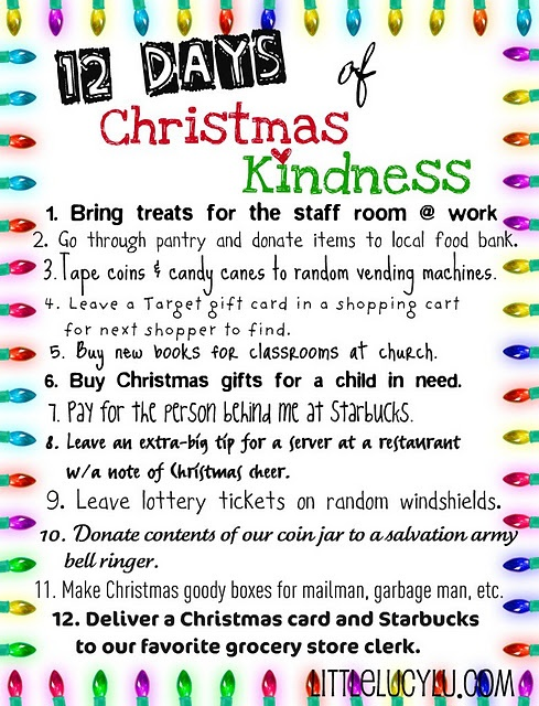 12 days of chrsitmas kindness