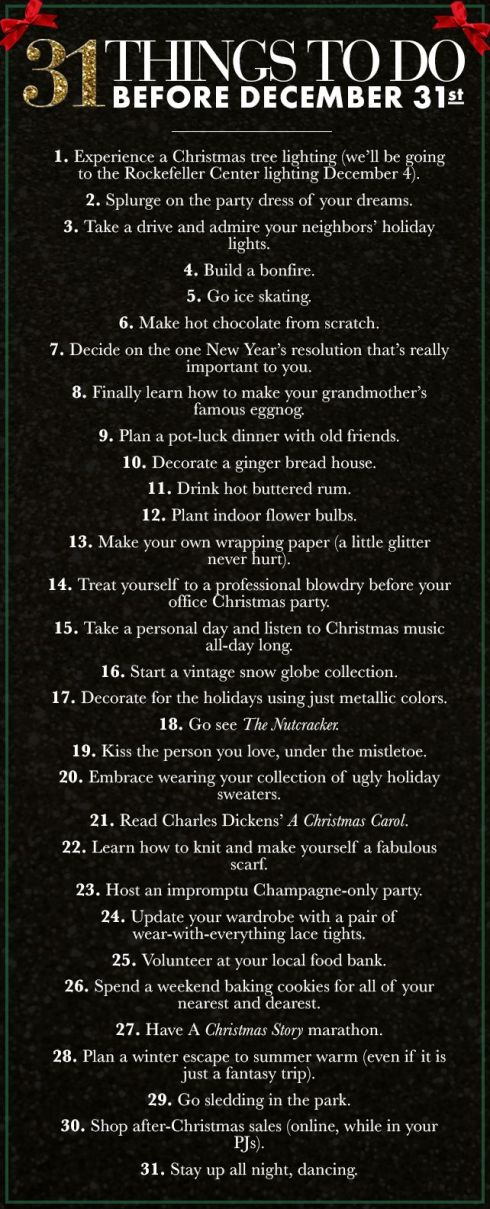 31 things to do