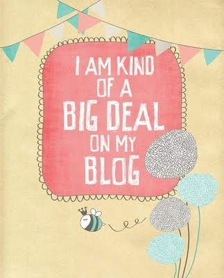 i am kind of a big deal on my blog