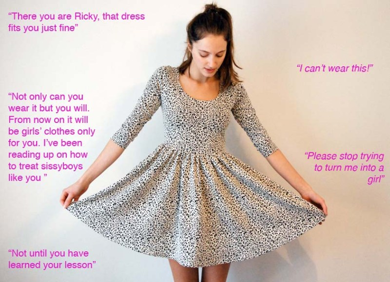 Captions Boys Wearing Girls Dresses