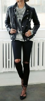 Badass leather clothes for women (036) | fashion