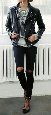 Badass leather clothes for women (036)   fashion