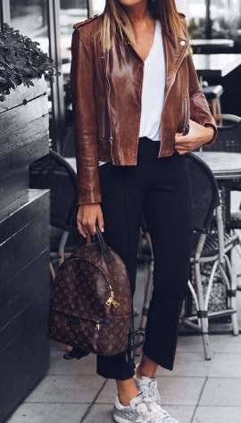 Badass leather clothes for women (041) | fashion