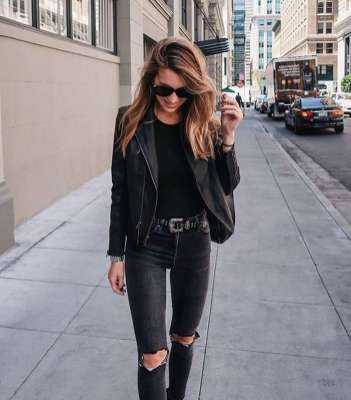 Badass leather clothes for women (069) | fashion