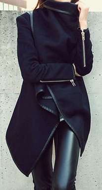 Badass leather clothes for women (076)   fashion