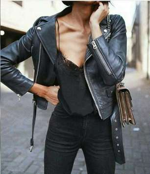 Badass leather clothes for women (077)   fashion