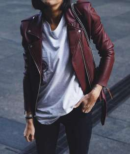 Badass leather clothes for women (081) | fashion