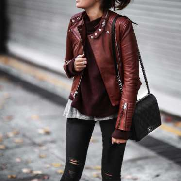 Badass leather clothes for women (089)   fashion