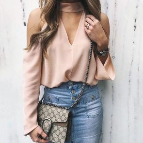 Blouse design idea and inspiration 063 fashion