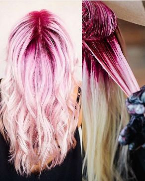 Colorful pink hairstyles (18)