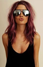 Colorful pink hairstyles (40)